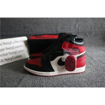 Authentic Air Jordan 1 Bred Toe