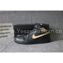 Authentic Air Jordan 1 Black Gold