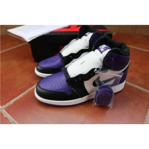 Authentic Air Jordan 1 Court Purple GS