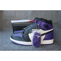 Authentic Air Jordan 1 Court Purple