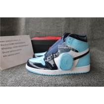Authentic Air Jordan 1 UNC Patent Women Shoes