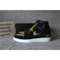 Authentic Air Jordan 1 Black Gold OVO