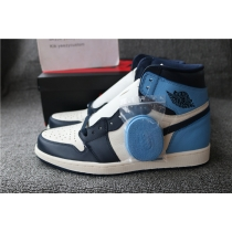 Authentic Air Jordan 1 Obsidian