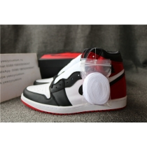Authentic Air Jordan 1 Retro High Satin Black Toe Women Shoes