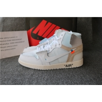 Authentic Off White Jordan 1 White