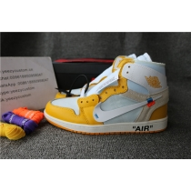 Authentic Off White X Jordan 1 Yellow