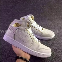 Authentic Air Jordan 1 Pinnacle White