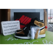 Authentic Air Jordan 1 Top 3 Gold