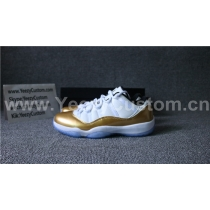 Authentic Air Jordan 11  White/Gold