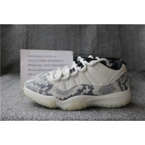 Authentic Air Jordan 11 Low Snakeskin