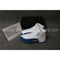 Authentic Air Jordan 12  French Blue  GS