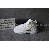 Authentic Air Jordan 12 White OVO GS