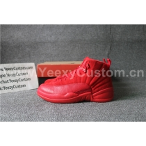 Authentic Air Jordan 12  Red Suede