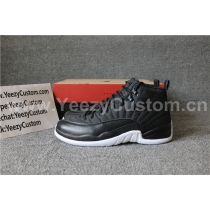 Authentic Air Jordan 12 Black Nylon