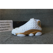 Authentic Air Jordan 13 Retro DMP White Gold