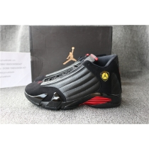 Authentic Air Jordan 14 Black Red 2018