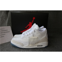 Authentic Air Jordan 3 Pure White