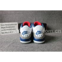 2016 Authentic Air Jordan 3 OG True Blue(Nike Logo)