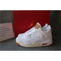 Authentic Air Jordan 4 Levis White