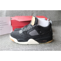 Authentic Air Jordan 4 Levis Black