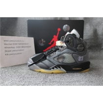 Authentic Air Jordan 5 Black Off White