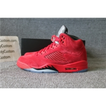 Authentic Air Jordan 5 Red Suede 2017