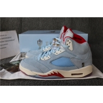 Authentic Trophy Room X Air Jordan 5 Icy Blue