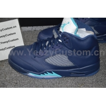 Authentic Air Jordan 5 Midnight Navy Blue