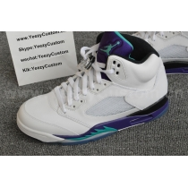 Authentic Air Jordan 5 White Grape