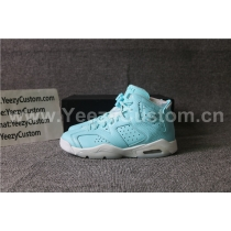Authentic Air Jordan 6  Still Blue  GS