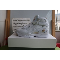Authentic Air Jordan 8 Retro White OVO