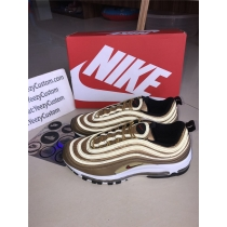 Authentic Nike Air Max 97 OG gold Metallic Gold
