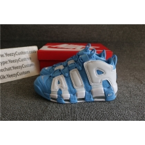 Authentic Supreme x Nike Air More Uptempo University Blue