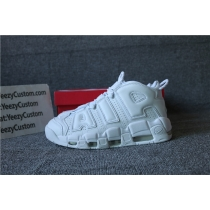 Authentic Nike Air More Uptempo Triple White Men AND GS