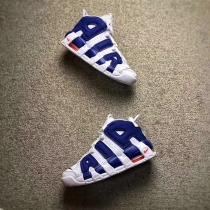Authentic Nike Air More Uptempo White Navy Blue