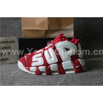 Supreme X Nike Air More Uptempo Suptempo Red