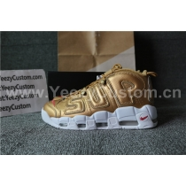 Supreme X Nike Air More Uptempo Suptempo Gold