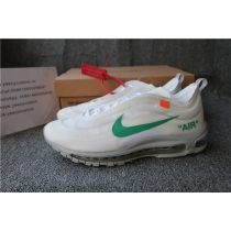 Authentic Nike Air Max 97 Off White OG White Green