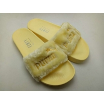 Rihanna x Puma Fenty Fur Leadcat Slides Women Slipper Yellow