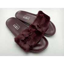 Rihanna x Puma Fenty Fur Leadcat Slides Women Slipper Coffee
