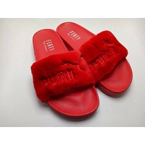 Rihanna x Puma Fenty Fur Leadcat Slides Women Slipper Red