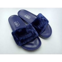 Rihanna x Puma Fenty Fur Leadcat Slides Women Slipper Blue