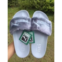 Rihanna x Puma Fenty Fur Leadcat Slides Women Slipper Gray