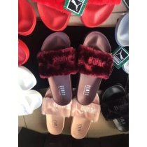 Rihanna x Puma Fenty Fur Leadcat Slides Women Slipper Wine