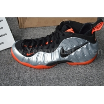Authentic Nike Air Foamposite One Silver Red