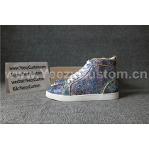 Super High End Christian Louboutin Flat Sneaker High Top(With Receipt) - 0018