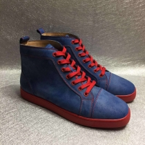 Super High End Christian Louboutin Flat Sneaker High Top(With Receipt) - 0026