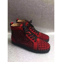 Super High End Christian Louboutin Flat Sneaker High Top(With Receipt) - 0031
