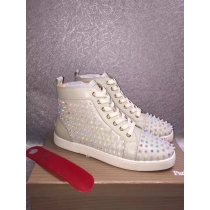 Super High End Christian Louboutin Flat Sneaker High Top(With Receipt) - 0032