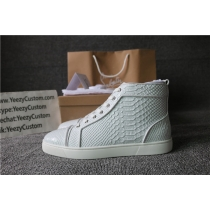 Super High End Christian Louboutin Flat Sneaker High Top(With Receipt) - 0173